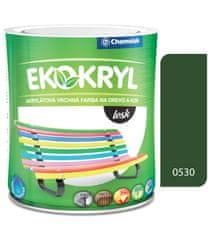 Chemolak Ekokryl Lesk V2062 0530 středně zelená 0,6l - vrchní akrylátová barva na dřevo a kov