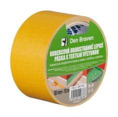 Den Braven Kobercová oboustranně lepící páska s textilní výztuhou 50mmx10m