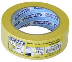 SPOKAR maskovací páska interiérová 75mmx50m - 24h / 60 ° C