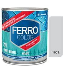 Chemolak Ferro Color U2066 Mat 1003 šedá 0,75l - základní a vrchní barva na kov