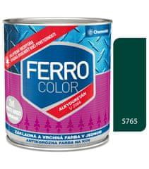 Chemolak Ferro Color U2066 5765 tmavozelená 0,3l pololesk - základní a vrchní barva na kov
