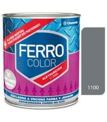 Chemolak Ferro Color U2066 1100 šedá 0,75l pololesk - základní a vrchní barva na kov