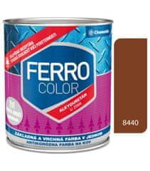Chemolak Ferro Color U2066 8440 červenohnědá 0,75l pololesk - základní a vrchní barva na kov