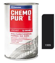 Chemolak CHEMOPUR E U2081 1999 černá 0,8l - vrchní polyuretanová barva na kov, beton, dřevo