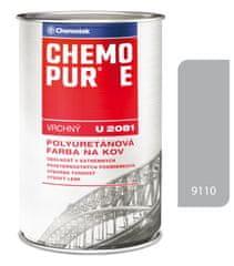 Chemolak CHEMOPUR E U2081 9110 hliníková 0,8l - vrchní polyuretanová barva na kov, beton, dřevo