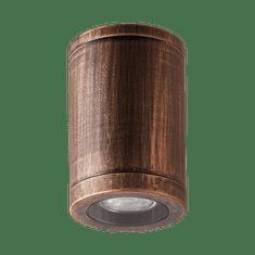 LUXERA Vonkajší stropné bodové prisadené svietidlo MOPTI 48326 rustikálne hnedé
