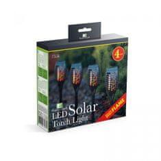 GARDEN OF EDEN LED solarna svetilka z efektom plamena - 4 kos - črna - plastika - 390 x 75 mm