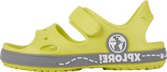 Coqui sandały dziecięce Yogi Citrus/Mid. grey 8861-407-1348