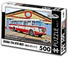 RETRO-AUTA© Puzzle BUS č. 2 Škoda 706 RTO (1968) 500 dielikov