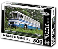 RETRO-AUTA© Puzzle BUS č. 3 Karosa ŠL 11 TOURIST (1973) 500 dielikov