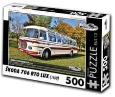 RETRO-AUTA© Puzzle BUS č. 10 Škoda 706 RTO LUX (1960) 500 dielikov