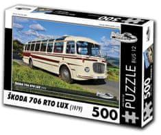 RETRO-AUTA© Puzzle BUS č. 12 Škoda 706 RTO LUX (1979) 500 dielikov