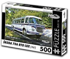 RETRO-AUTA©  Puzzle BUS č. 16 Škoda 706 RTO LUX (1967) 500 dielikov