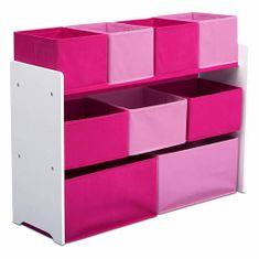 bHome Organizér na hračky bielo-ružový