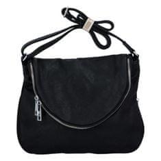 Mahel Krásna koženková crossbody kabelka Mike, čierna