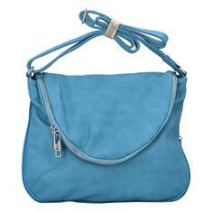 Mahel Krásna koženková crossbody kabelka Mike, modrá