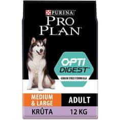 Purina Pro Plan Medium & Large Adult OPTIDIGEST Grain Free indyk 12 kg