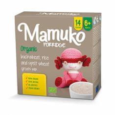 Mamuko Bio detská kaša hnedá pohánka, špalda, ryža 240g