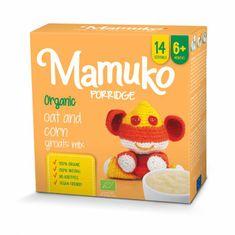 Mamuko Bio detská kaša kukurica, ovos 240g