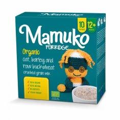 Mamuko Bio detská kaša drvená zelená pohánka, jačmeň, ovos 240g