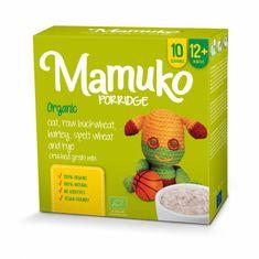 Mamuko Bio detská kaša drvená zelená pohánka, jačmeň, špalda, raž, ovos 240g