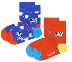 Happy Socks 2pack gyermek zokni Kids Farmlife Socks