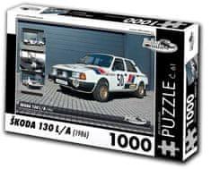 RETRO-AUTA© Puzzle č. 61 Škoda 130 L/A (1986) 1000 dielikov