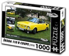 RETRO-AUTA© Puzzle č. 1 ŠKODA 110 R COUPE (1974) 1000 dielikov