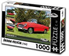 RETRO-AUTA© Puzzle č. 10 Škoda Felicia (1960) 1000 dielikov