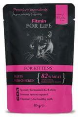 Fitmin mačja hrana Cat pouch kitten chicken, 28x85 g