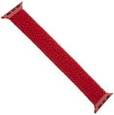 FIXED elastyczny pasek nylonowy Nylon Strap pro Apple Watch 42/44mm, rozmiar L FIXENST-434-L-RD, czerwony