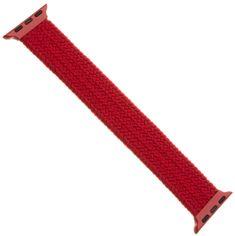 FIXED elastyczny pasek nylonowy Nylon Strap pro Apple Watch 42/44mm, rozmiar S FIXENST-434-S-RD, czerwony