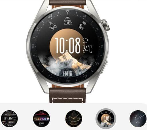 Inteligentný hodinky Huawei Watch 3 Pro, elegantné inteligentné hodinky, sledovanie tepu, spánku, tréningový režim, dlhá výdrž, vodotesné, GPS, Glonass, Galileo QZSS dlhá výdrž batérie, telefonovanie, hudobný prehrávač, AMOLED displej 16 GB veľká interná pamäť 60 Hz obnovovacia frekvencia 1000 nitov vysoký jas čitateľnosť na priamom slnku športový dizajn NFC platby zabudovaný eSIM obojstranná komunikácia bez prítomnosti telefónu vodotesnosť 5 ATM do 50 metrov 100+ športových režimov vymeniteľné ciferníky LTE WiFi Bluetooh 5.2 výkonný smartwatch luxusné inteligentné hodinky SpO2 meranie stresu meranie telesnej teploty analýza spánku osobný tréner nerezová ocel kvalitný materiál