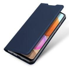 Dux Ducis Skin Pro knižkové kožené puzdro na Samsung Galaxy A32 4G, modré