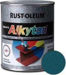 Alkyton kladívková modrá tmavá 750LM - samozákladový email na kov, dřevo a beton