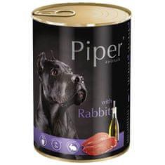 Piper mokra hrana za pse, s kuncem, 24 x 400 g