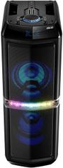 Akai ABTS-82 Party LED, hordozható Bluetooth hangszóró, USB, AUX, FM rádió, Fekete