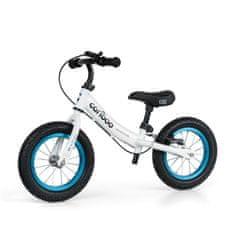 Movino Otroški poganjalec Cariboo ADVENTURE z zavoro, napihljiva kolesa premera 12 inčev, belo-moder R-004-BM