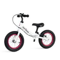 Movino Otroški poganjalec Cariboo ADVENTURE z zavoro, napihljiva kolesa premera 12 inčev, belo-moder R-004-BR