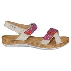 ORTO Plus Krémové sandále so zvýšeným zdravotným účinkom