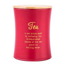 Altom Červená doza s vičkem na kavu a čaj, 11x15 cm Rozměry: Čaj