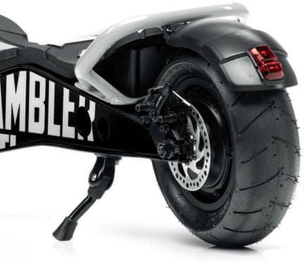 hulajnoga elektryczna Ducati SCRAMBLER CROSS-E składana konstrukcja wysoka wydajność tryby jazdy anti-defekt opony bezdętkowy tempomat wyświetlacz LCD stalowa konstrukcja prędkość 25 km zasięg 35 km oświetlenie LED hulajnoga elektryczna moc 500W wydajna hulajnoga elektryczna stylowy design żółto-czarna hulajnoga elektryczna IPX4 nośność120 kg napęd na tylne koło mechaniczny system hamulców