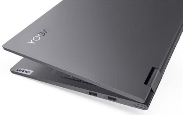 elegantní notebook lenovo yoga slim 7 krásný design prémiové provedení wifi ax Bluetooth rychlý chod výkonný procesor ultrarychlý pevný disk ergonomická klávesnice praktický touchpad usb rozhraní thunderbolt pořádná výdrž baterie