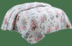 Bavlissimo Přehoz na postel prošívaný přírodní motivy bílá 200 x 240 cm