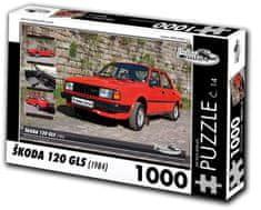 RETRO-AUTA© Puzzle č. 14 Škoda 120 GLS (1984) 1000 dielikov