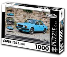 RETRO-AUTA© Puzzle č. 83 Škoda 120 L (1985) 1000 dielikov