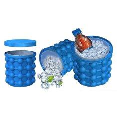 BEMI INVEST Silikonová nádoba na výrobu ledu - se skladovacím prostorem ICE CUBE