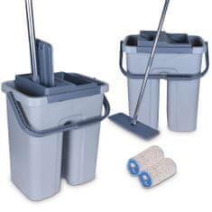COIL Cenocco CC-9070: Plochý mop s kbelíkem šedý