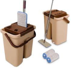 COIL Cenocco CC-9070: Plochý mop s kbelíkem Bucket Brown