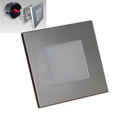 LUXERA LED Schodiskové svietidlo STEP LIGHT 48302, 1 W, strieborná